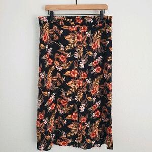 Anko NWOT Tropical Print Retro Midi Skirt